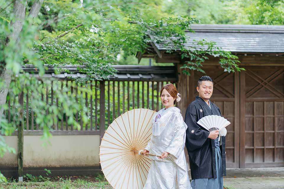 藤田邸跡公園での前撮り