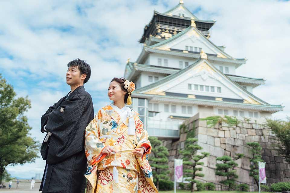 大阪城での前撮り