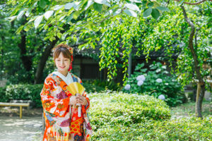 大阪での和装前撮り