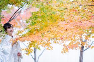 藤田邸跡公園で和装前撮り